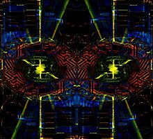 WA8 a starry fractal trace design by Dennis Melling