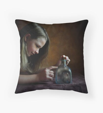 Thyme in a Bottle Throw Pillow