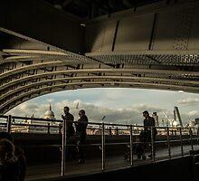 Saturday in Spring Under Hungerford Bridge by LightLensSensor