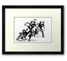 Retro Dirt Track Racers Framed Print