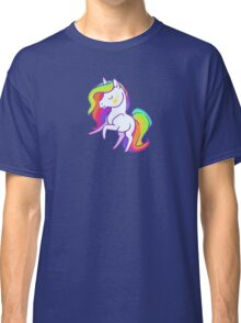 Cute chibi rainbow mane unicorn Classic T-Shirt