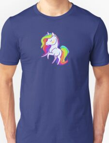 Cute chibi rainbow mane unicorn Unisex T-Shirt