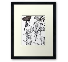 ww1 cartoon Framed Print