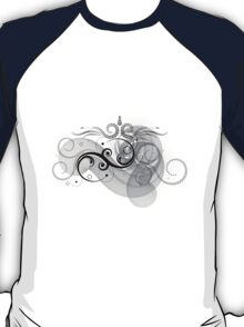 Abstract Floral Design T-Shirt