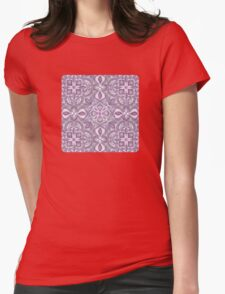Lavender & Grey - Colored Crayon Floral Pattern T-Shirt
