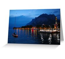 Lecco by night Greeting Card