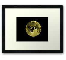Awesome Freestyle in da moon - Motocross MX  Framed Print