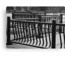 Guardrails BW Canvas Print