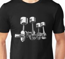 Car Engine pistons - Awesome 3D transparent design   Unisex T-Shirt