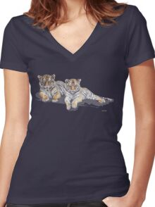 Tigercubs Women's Fitted V-Neck T-Shirt