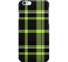 Green plaid iPhone Case/Skin