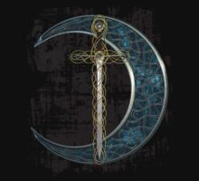 Celtic Moon and Sword by Packrat