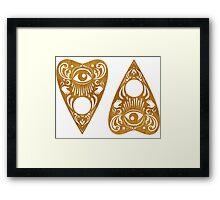 Planchette (wood) Framed Print
