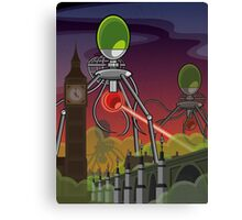The Martians Take Parliament Canvas Print