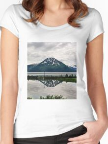 Alaska Reflection Women's Fitted Scoop T-Shirt
