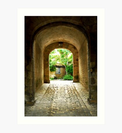Citadel tunnel, Blaye Art Print