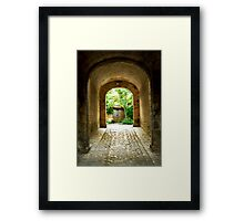Citadel tunnel, Blaye Framed Print
