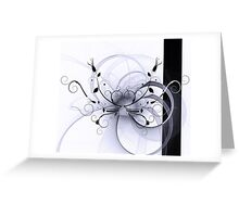 Abstract Floral Design Greeting Card