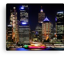 Circular Quay at Night - Sydney - Australia Canvas Print
