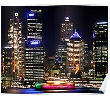 Circular Quay at Night - Sydney - Australia Poster