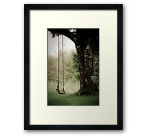 Thoughts of a Swing Framed Print