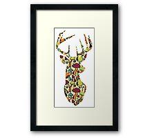 Deer Mushrooms  Framed Print