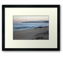 Misty Winter Haze Framed Print