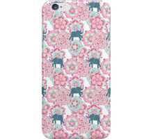Tiny Elephants in Fields of Flowers iPhone Case/Skin