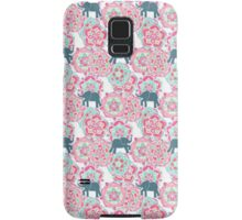 Tiny Elephants in Fields of Flowers Samsung Galaxy Case/Skin