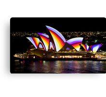 Psychedelic Sails - Sydney Vivid Festival - Sydney Opera House Canvas Print