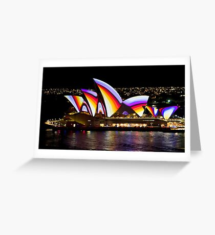 Psychedelic Sails - Sydney Vivid Festival - Sydney Opera House Greeting Card