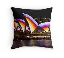 Psychedelic Sails - Sydney Vivid Festival - Sydney Opera House Throw Pillow