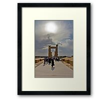 The Entrance to The Palace at Persepolis - Iran Framed Print