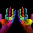 Colorful Hands by Bruno Beach