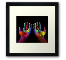 Colorful Hands Framed Print