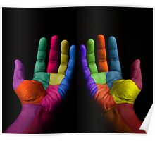 Colorful Hands Poster