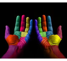 Colorful Hands Photographic Print