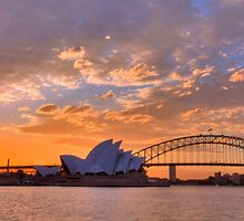 Sunset Sydney Harbour - Australia by Bryan Freeman
