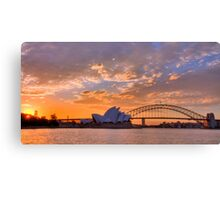 Sunset Sydney Harbour - Australia Canvas Print