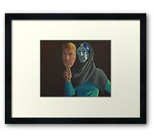 Mask of Reality Framed Print