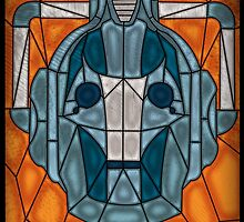 Cyberman stained glass by UncleFrogface
