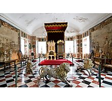 Royal throne room Photographic Print
