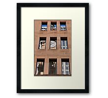 A Reflection of The General Post Office Clock Tower - Sydney - Australia Framed Print