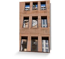 A Reflection of The General Post Office Clock Tower - Sydney - Australia Greeting Card