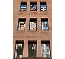 A Reflection of The General Post Office Clock Tower - Sydney - Australia Photographic Print