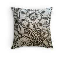 Henna design Throw Pillow