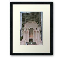 Hyde Park War Memorial - Sydney - Australia Framed Print