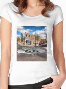 Winslow, Arizona - Route 66 Women's Fitted Scoop T-Shirt