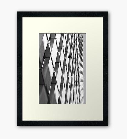 Zebragonals! - Sydney - Australia Framed Print