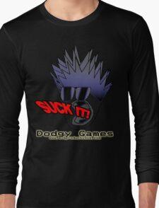 """Dodgy Games """"Suck It"""" Shirt Long Sleeve T-Shirt"""